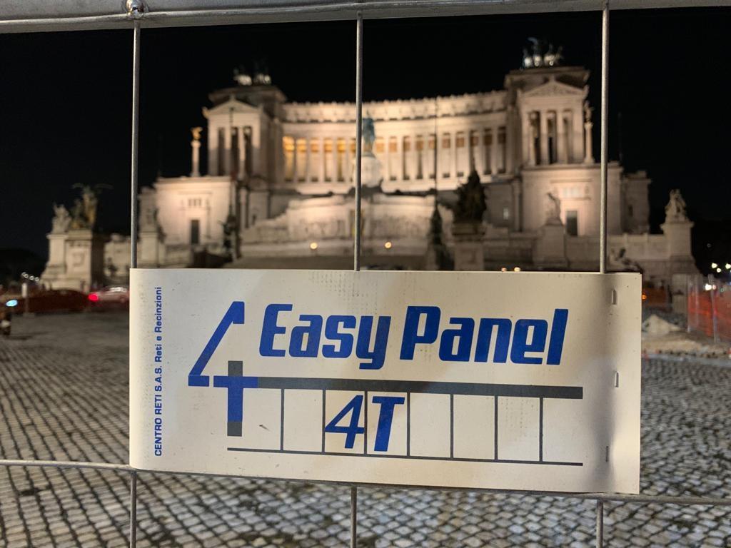 Recinzione mobile roma 4T